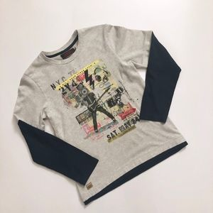 Boys Catamini Graphic Rock Tee Shirt 6 - 8